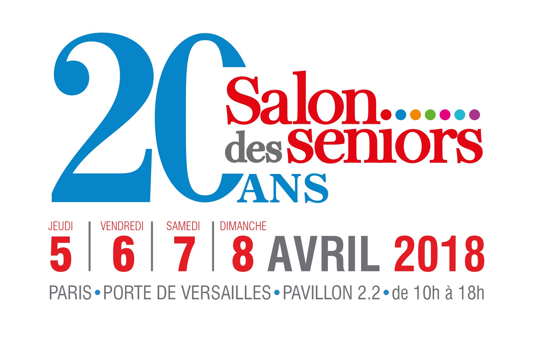 Visuel Salon des Seniors le 5 avril 2018