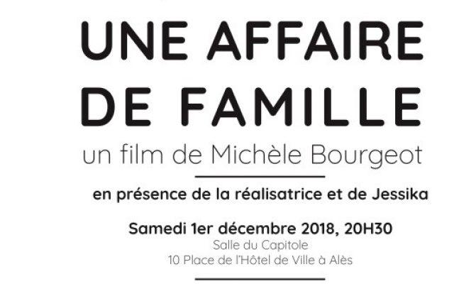 Visuel Projection du film » Une affaire de famille » documentaire réalisé par Michèle Bourgeot