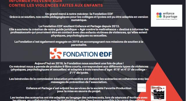 Visuel Un grand merci à notre mécène : la Fondation EDF
