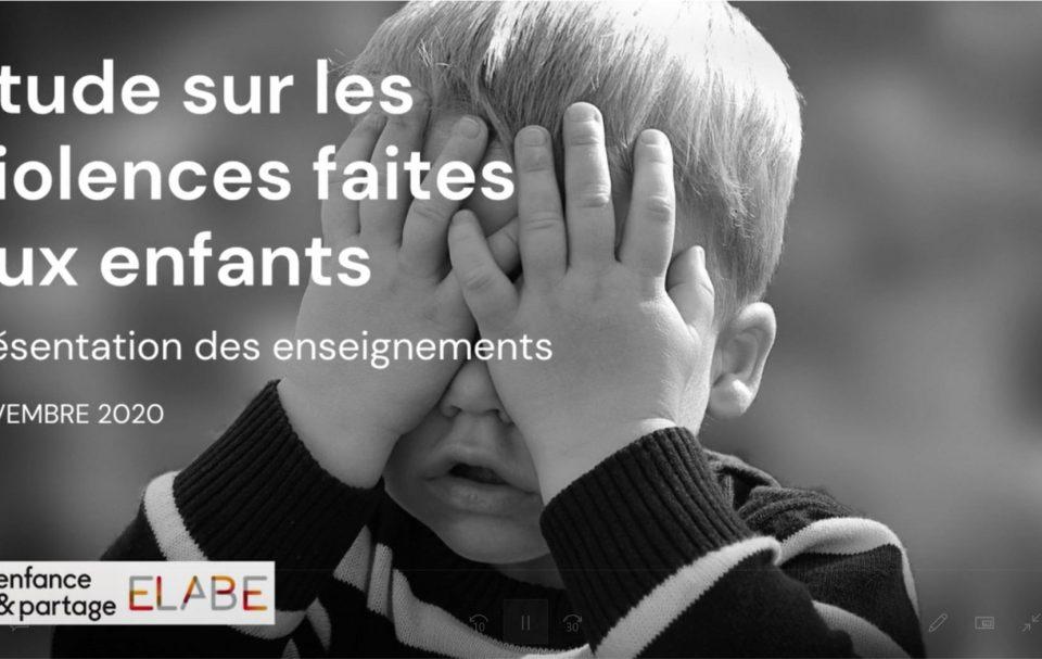 Visuel Journée Internationale des Droits de l'Enfant 2020 – Etude sur les violences faites aux enfants